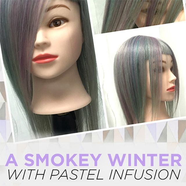 #Smokey and #pastel! #Winter hair color that will blow your mind.