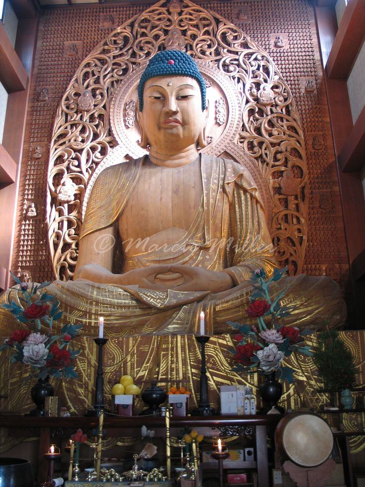 Japan's largest wooden Buddha is in Fukuoka. ©Marcie ...