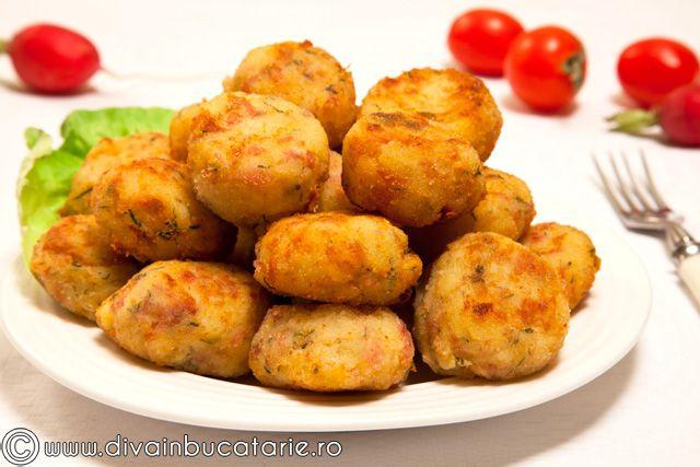 Bulete de cartofi cu sunca | Diva in bucatarie