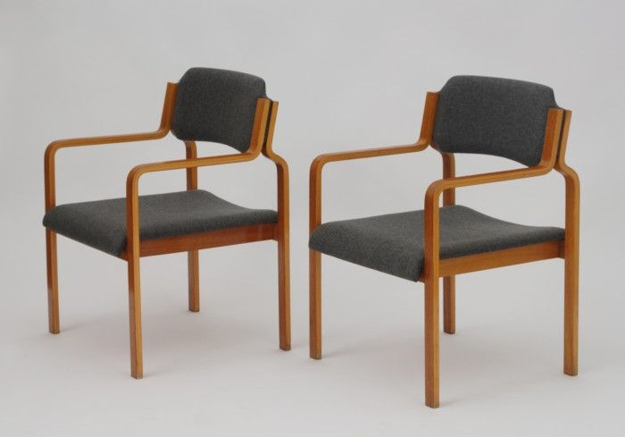 Pair of TON dining chairs, 1975  Czechoslovakia