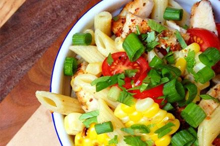Southwest Grilled Chicken and Corn Pasta Salad : Healthy Pasta Recipes