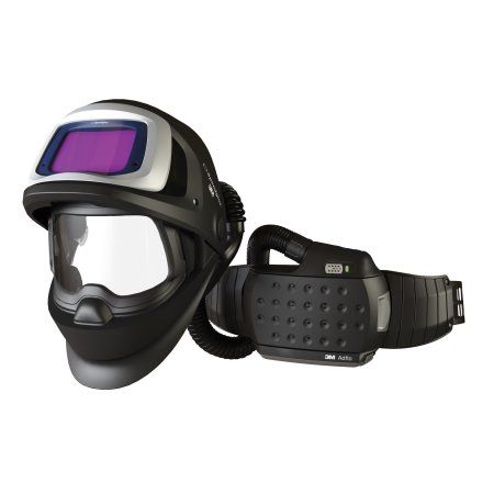 3M Adflo Belt-Mounted Universal lthium Ion Organic Vapor Acid Gas High Efficiency Papr System With Speedglas 9100 FX-Air Welding Helmet And 5, 8 - 13 Shade 2.8 inch X 4.2 inch, Multicolor