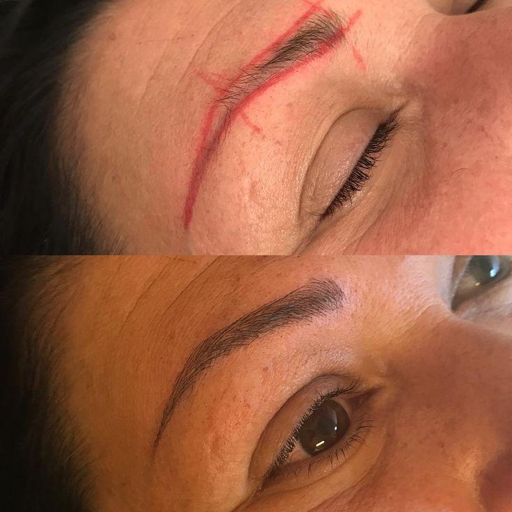 Dagens 3D ögonbryn. Väldigt nöjda ���� kunden hade tidigare en gammal smal och svag tatuering . . #makeup #kungsör #cosmetic #cosmetics #Köping #Västerås #fashion #eyeshadow #lipstick #gloss #mascara #arboga  #eyeliner #lip #lips #tar #concealer #foundation #powder #eyes #eyebrows #lashes #lash #glue #glitter #crease #primers #base #beauty #beautiful http://ameritrustshield.com/ipost/1551671704378510381/?code=BWIpTGrgYwt