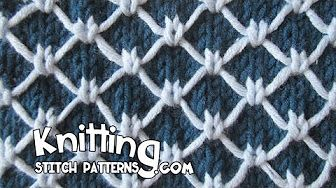 Two Color Diamond Quilting - YouTube