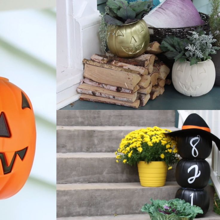 3 ways to use dollar store pumpkins halloween wreathshalloween diyhalloween