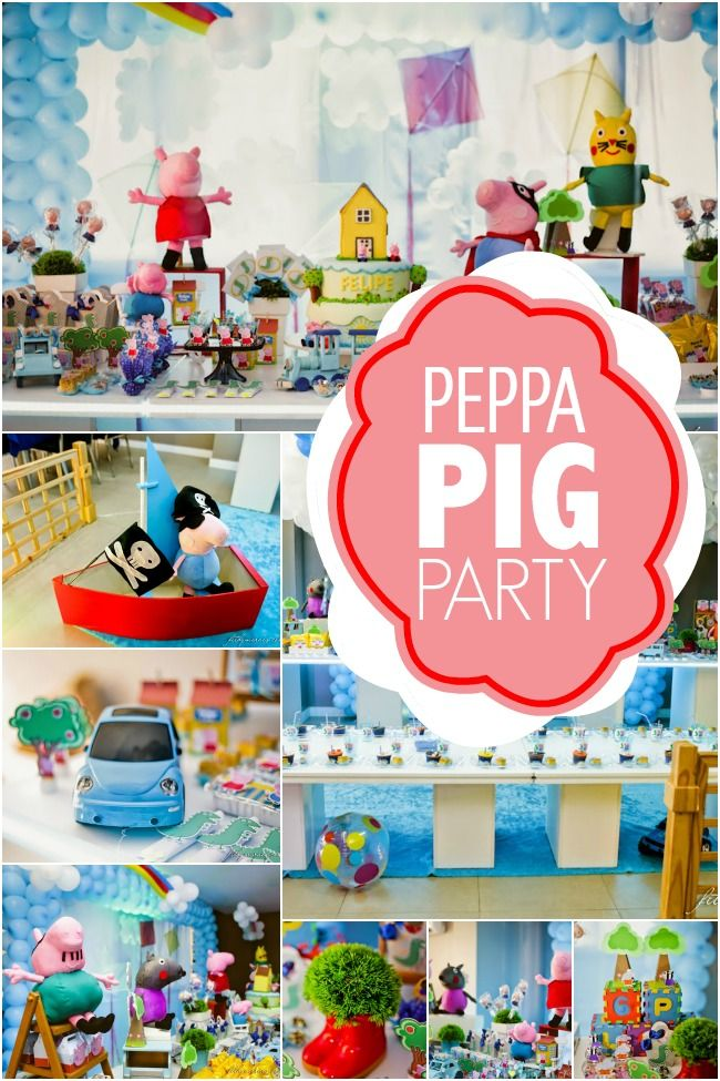 3rd birthday party ideas for boy choo choo boys peppa pig inspired 3rd birthday party spaceships and laser beams pig party in 2018 pinterest party