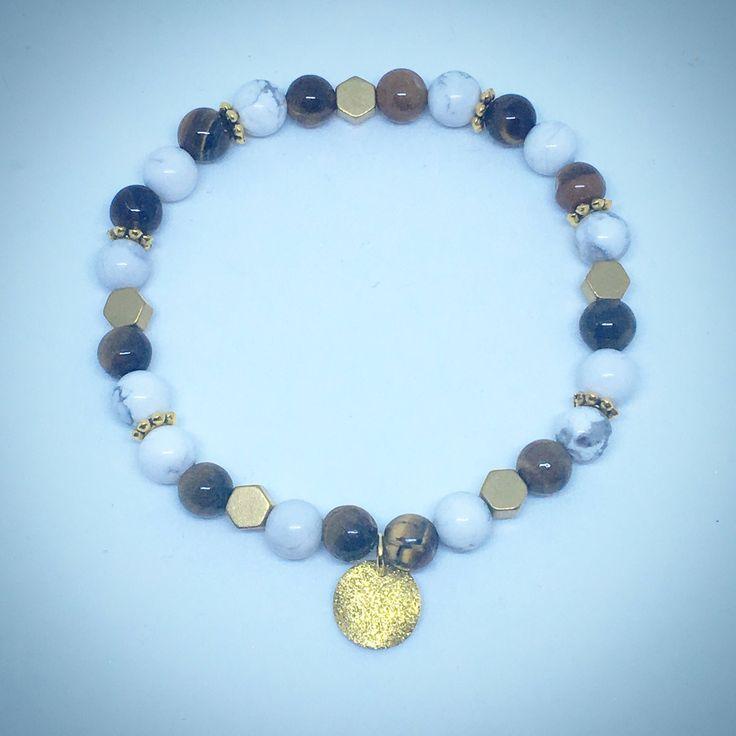 A personal favorite from my Etsy shop https://www.etsy.com/ca/listing/587641457/calminganxiety-bracelet-howlite-bracelet