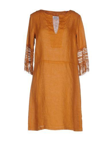 LA FABBRICA del LINO Women's Knee-length dress Brown XXL INT