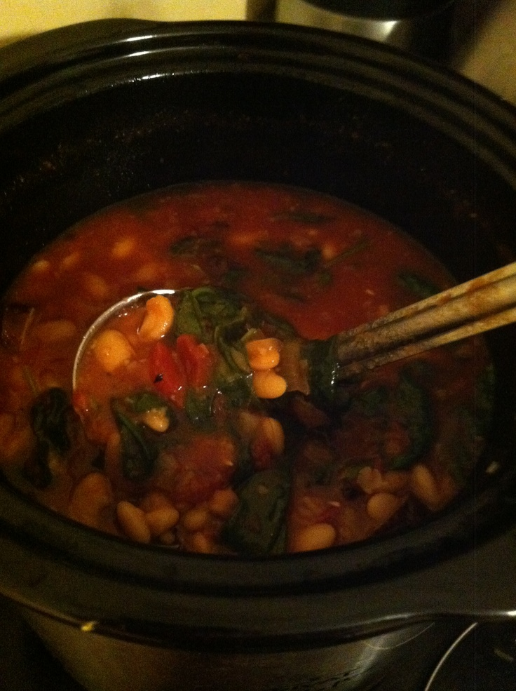 how to cook dry white beans in a crock pot