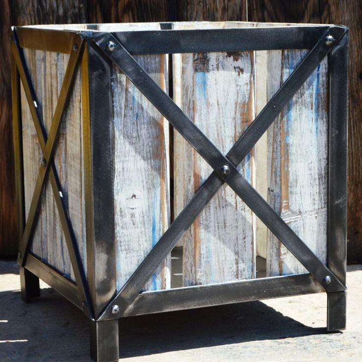 Planters #modern #industrial #pallets #custom #forge #art #love #metalwork #colors #finish #garden #x