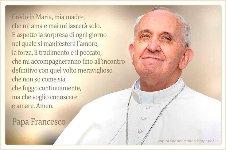 Alcune frasi di Papa Francesco. Cartoline da scaricare gratis.