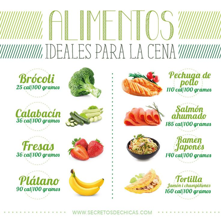 Alimentos ideales para la cena