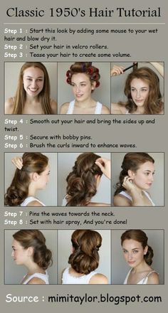 Hair inspiration: Such a pretty 50s style updo!
