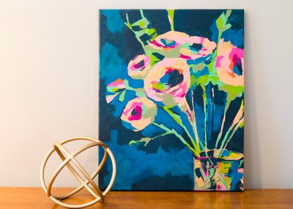 Flowers  //  Abstract Floral Painting | Kate Gwin Art