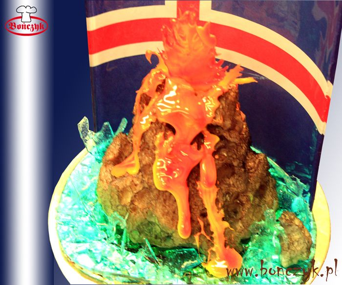 #Island; #Islandia; #volcano; #wulkan; #Islandcake; #tort; #cake; #volcanocake; www.bonczyk.pl
