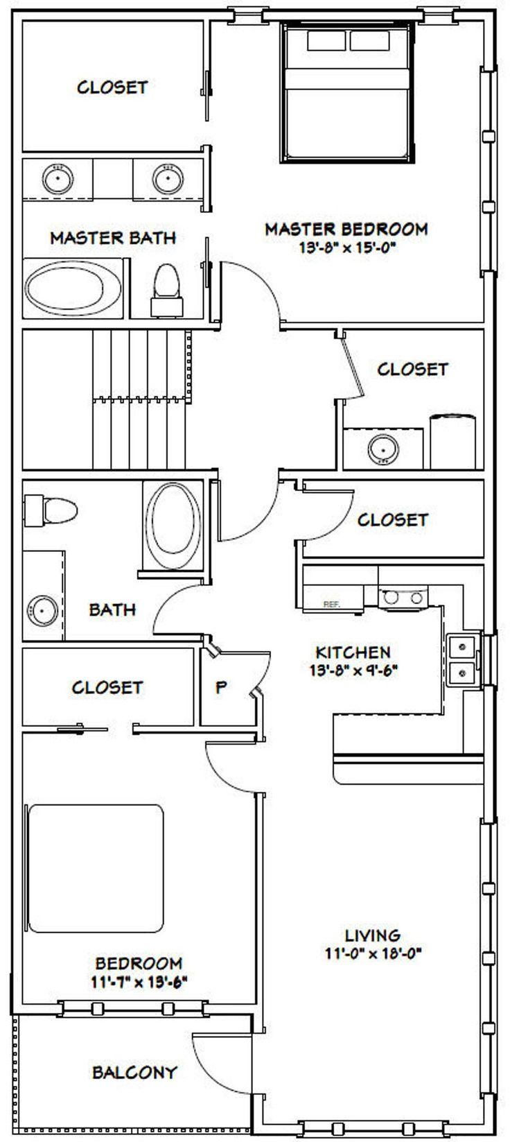 60x50 House 2Bedroom 2.5Bath 1,694 sq ft PDF