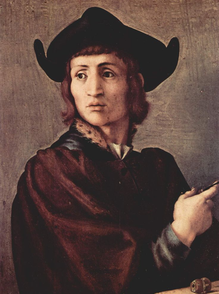 Jacopo Pontormo (Italian: 1494 – 1557) - Portrait of a goldsmith (1518)