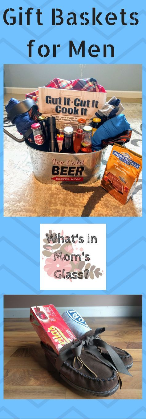 """Gift Baskets for Men  Do you have a hard time shopping for the men in my life? Do you feel like they have everything they need? Get some great gift ideas from these baskets and surprise that guy in your life. Remember to make sure the """"basket"""" is a useful part of the gift. …"""