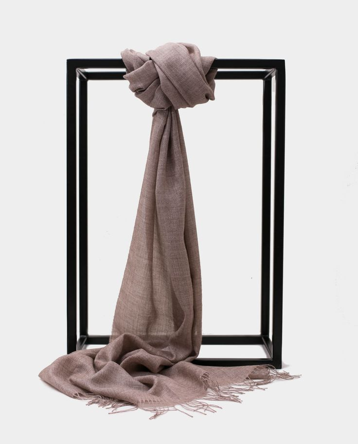 Szal Alpaka Jedbaw Exclusive Inti Jasny brąz Shawl Scarf Light Brown 70% BABY ALPACA + 30% SILK Made in Peru