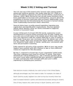 The U.S. has one of the lowest voter turnout rates among modern democratic political systems. One study ranks the U.S. 120th on a list of 169 nations compared on… (More)