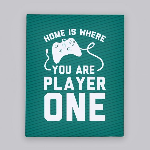 Home is canvas art decor home style design gamer
