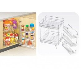 Double Pull Out Baskets Made Up Of Stainless Steel 304 Grade These Can Be