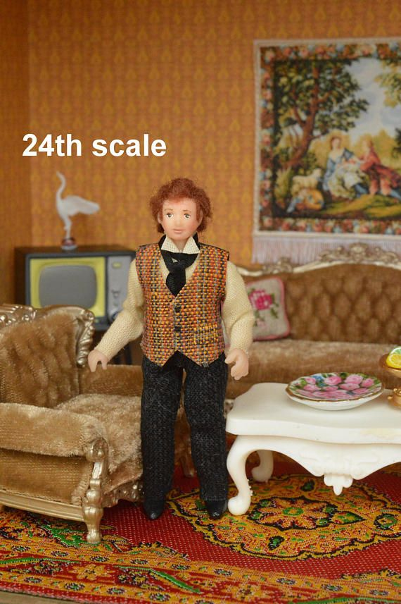 Miniature Doll Polymer Clay  Miniature 24th Scale Dollhouse