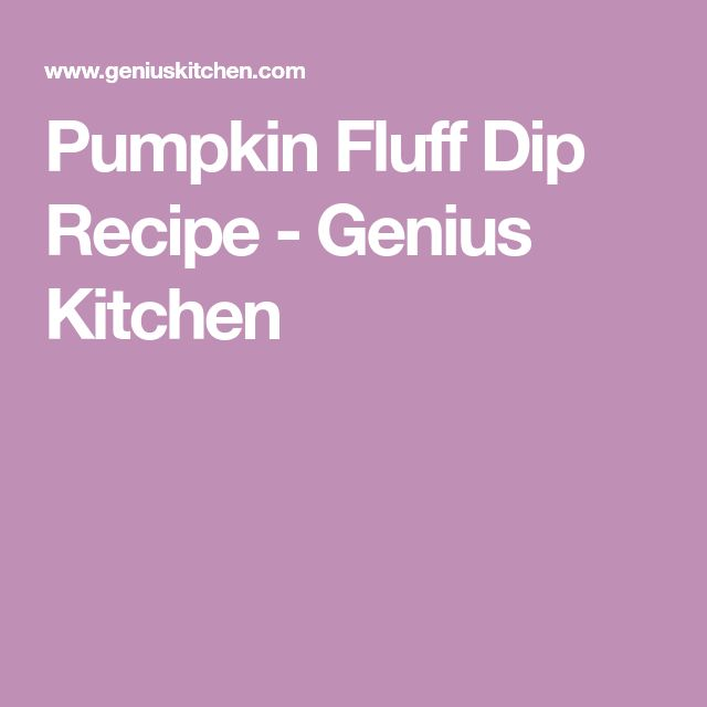 Pumpkin Fluff Dip Recipe - Genius Kitchen
