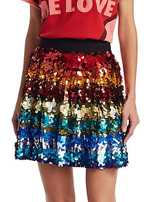 Alice + Olivia Alice + Oliva x Beatles Blaise Sequin Skirt