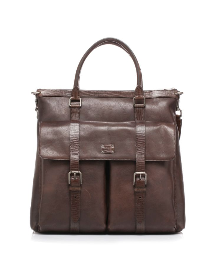 Leather shopping bag with double handles and removable shoulder strap by @Dolce & Gabbana