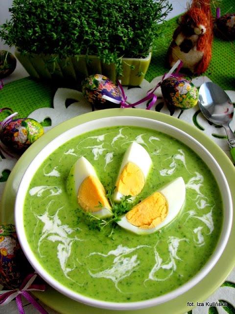 Smaczna Pyza: Zupa z zielonego groszku i rzeżuchy - http://smacznapyza.blogspot.com/2013/03/zupa-z-zielonego-groszku-i-rzezuchy.html