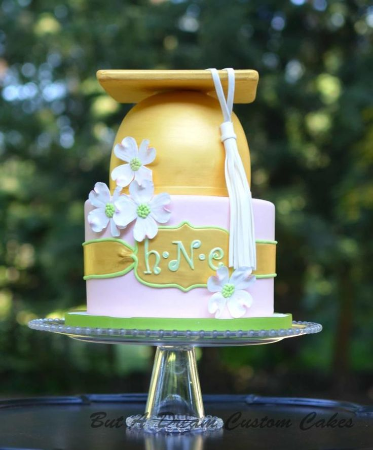 Dogwood Graduation Cake - Cake by Elisabeth Palatiello