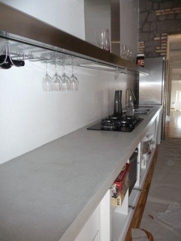 Top cucina in resina lavoro effettuato a marino roma - Top cucina in cemento ...