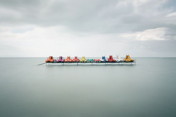 Akos Major | Waterscapes | collection of ominously still bodies of water
