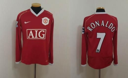 Nike (s) Manchester Shirt Jersey Ronaldo Real Madrid Portugal Maglia L/s Long Jerseys Sleeve S Soccer United