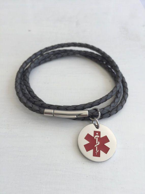 Medical Alert Bracelet Personalized  Women's by EJEngraving