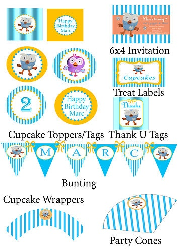 Giggle and Hoot Party Pack Personalised Printable  http://www.ebay.com.au/itm/Giggle-and-Hoot-Party-Pack-Personalised-Printable-/330857538680?pt=AU_Party_Supplies=item4d08a56478&_uhb=1#