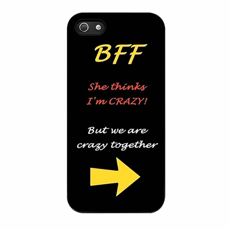 BFF Quote She s Crazy Arrow Best Friends iPhone 5/5s Case