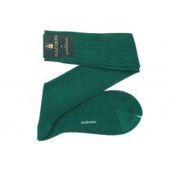 chaussettes vertes en fil d'écosse pour femme et pour homme de mazarin