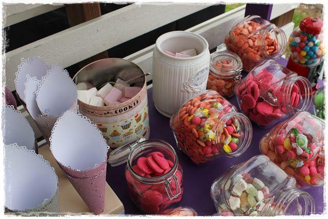 Princess JoJon Candyland birthday candy buffet