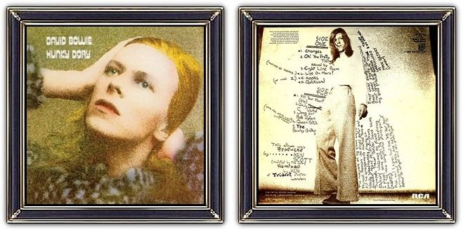 ♫ David Bowie - Hunky Dory (1971) - Art & Design: George Underwood (design) Brian ward (front/back)  - https://www.selected4u.net/caa/davidbowie/hunkydory/play.html