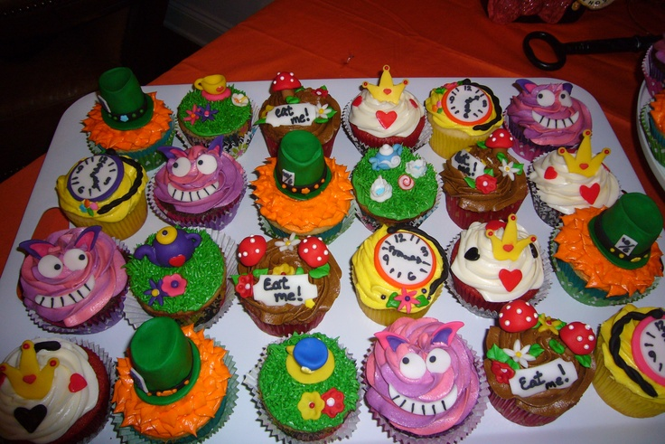 mad hatter cupcakes - photo #18