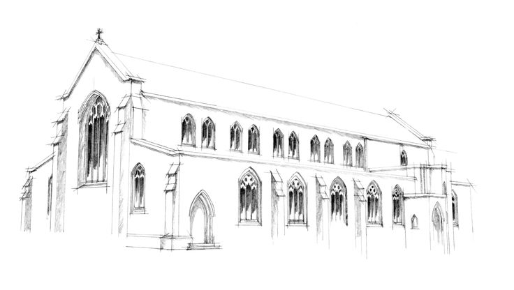 St Pauls Church, W-s-M - Sketch Drawing
