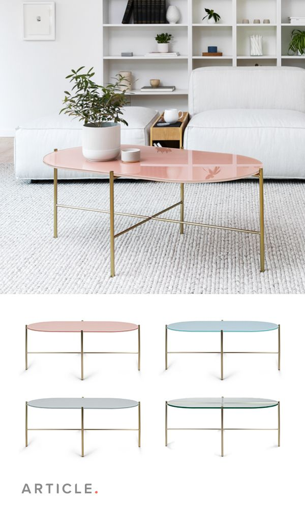Silicus Pink Oblong Coffee Table Coffee Table Pink Dining