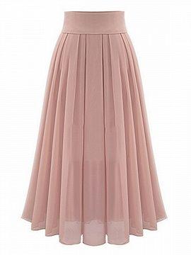 Shop Pink High Waist Overlay Chiffon Skirt from choies.com .Free shipping Worldwide.$27.99