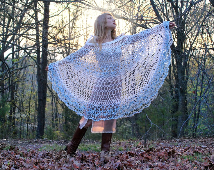 Gypsy Lace Dress Convertible Poncho Cover Up by RubyChicOriginals