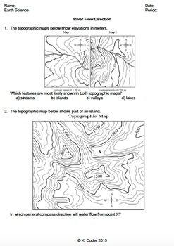 worksheet river flow direction editable earth science map worksheets worksheets earth. Black Bedroom Furniture Sets. Home Design Ideas