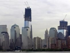 One World Trade Center to be the tallest building in the Western Hemisphere.  Photo by Mel Evans - AP