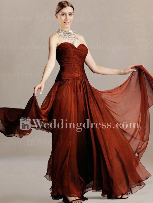 Elegant Chiffon Strapless Groom Mother Dress MO142