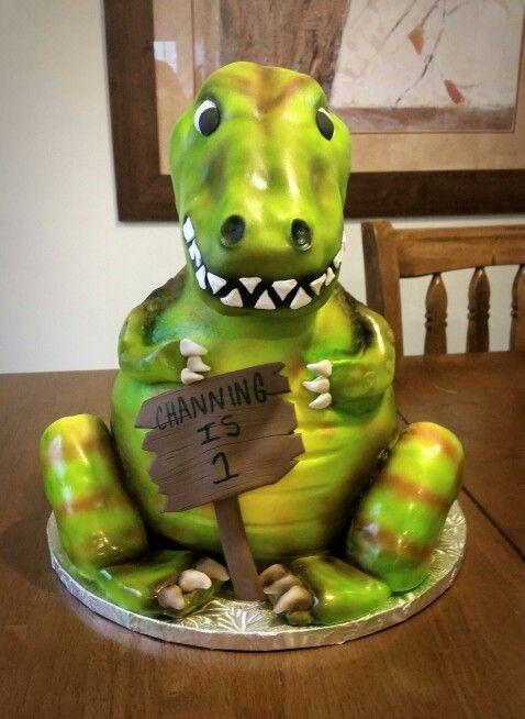 3d Dinosaur Cake Cakes By Jennifer Pinterest